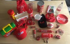 Large collection of various coca cola items in perfect condition - 20th century.