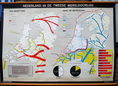 Old School Map: The Netherlands during World War II