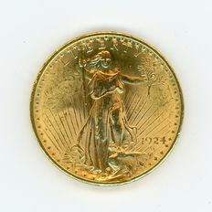 United States – 20 Dollars 1924 – Gold
