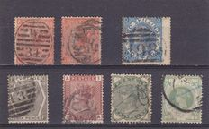 Great Britain 1865/83 - Unificato 32, 38, 48, 67, 68, 74 and 75