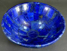 Hand-crafted, polished Lapis Lazuli bowl - 155 x 42mm - 411gm