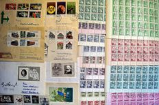 DDR 1964/1986 – selection with 285 various run letters and 15 sheet sets
