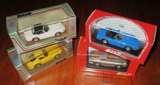 Box / Best Models - Scale 1/43 - Lot with 4 model cars: 4 x  Ferrari 275GTB Coupè Enzo Ferrari Spider Steve McQueen