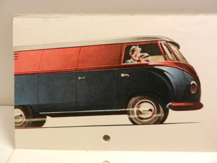 Volkswagen T1 and T2 van brochures. 1950s to 70s, 12 pieces