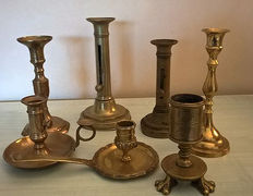 Seven candlesticks - France - 19th and 20th centuries