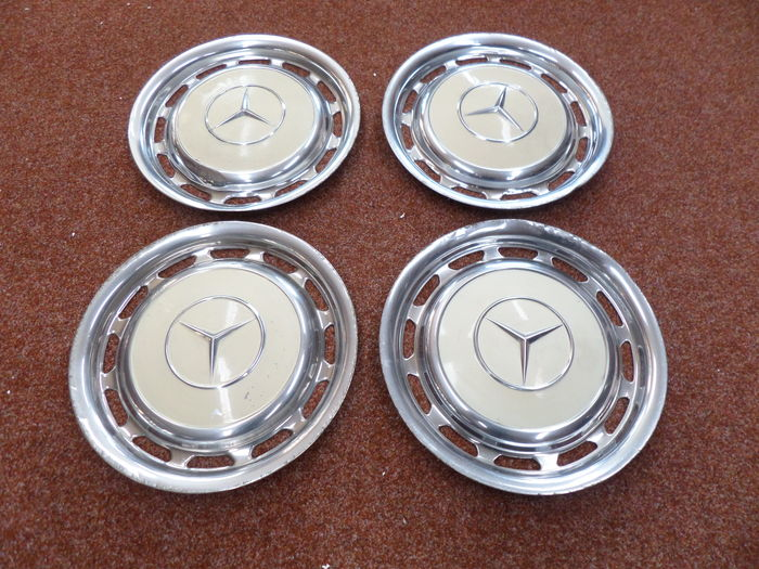 4 Mercedes Wheel caps - Diameter 39 cm - 15 inch