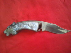 Franklin mint  jachtmes  collectors knife wolf