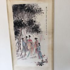 Watercolor painting - reproduction of Fu Baoshi - China - late 20th century