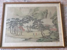 Mountain scene painting - China - 19th  century