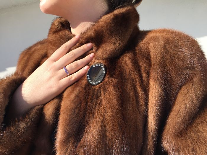 High quality mink fur coat