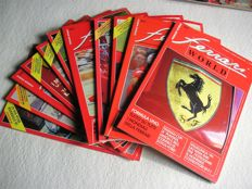 "Lot of 11 beautiful and rare issues of ""Ferrari World"""