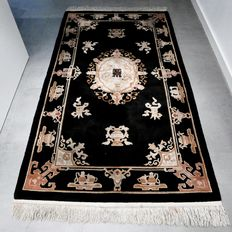 UNIQUE! Fantastic Chinese rug - 217 x 123 - super appearance - with certificate.