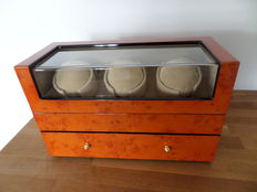Watch winder 3 x 5 - Never used, new condition - Burl wood design - Chargeable