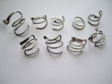 Сeltic twisted silver rings - 18-21 mm (9 items)