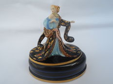 "Franklin Mint House of Erte music box opera ""Rigoletto"""
