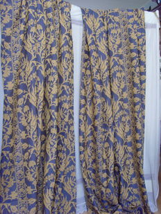 Manufacture J Legrand - Furniture piece - Curtain fabric - Damask-Belgium - 1940-1950.