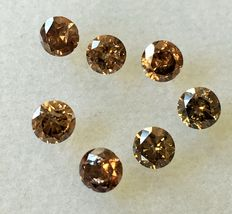Lot of 7 Natural diamonds cts. 1.05
