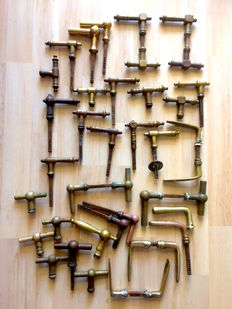 Lot of antique bronze door fittings - antique - chemin de fer - art deco