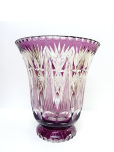 Moser, Large Vase, Bohemian Amethyst Crystal, Czech Republic, 20th century