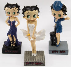Figurine; Lot of 3 Sexy Betty Boop statues - 21st century