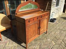 Art nouveau, oak cupboard - the Netherlands, Joure) - ca 1910