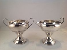 Silver cream set - USA - 2nd half 20th century
