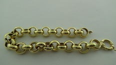 Gold Jasseron bracelet, length: 20 cm, 12.65 grams