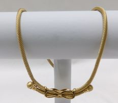 18 kt gold design necklace.  32 g.