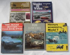 Cars / automotive sports lot of 5 books - 1955/1983