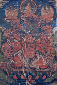 Beautiful  Thangka of Hayagriva - China / Tibet -  18th-19th Century