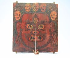 Cabinet Doors with Vajrapani - China / Tibet - 19th Century