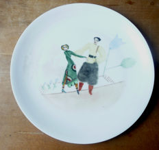 Carl Seffers: Porcelain wall plate: Russische Improvisation, 1928