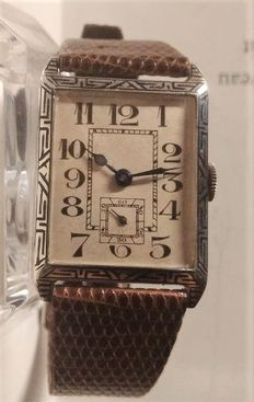 ART DECO large-size silver watch - French school - men's watch - 1920s/30s