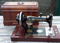 Authentic Lewenstein type 10 hand sewing machine,The Netherlands, ca. 1920