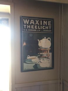 Advertising sign 'Waxine' tea - lights - from the 1970s