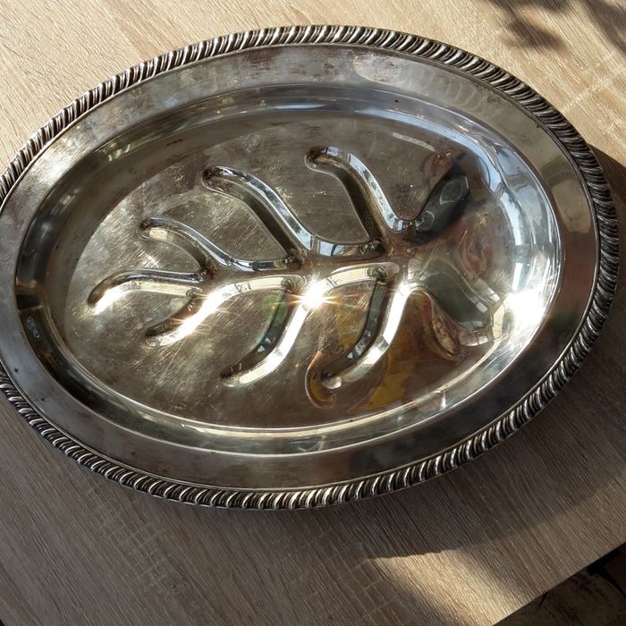 Silver -Serving trays, late previous century.