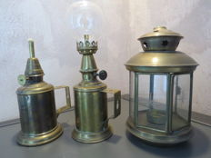 Old lamps from France, from the second half of the 20th century.