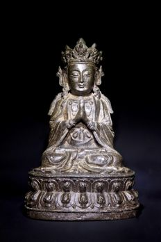 Bronze Guanyin Figure - China - 16th Century ( Ming dynasty )