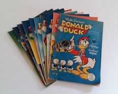 Donald Duck Weekblad 1-10 - 10xsc - 1st edition (1952)