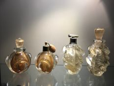 Archimede Seguso - batch of two pairs of perfume atomizers and bottles