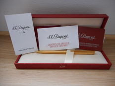 S.T. Dupont Ballpoint Pen Classic golden series in its box with its documents