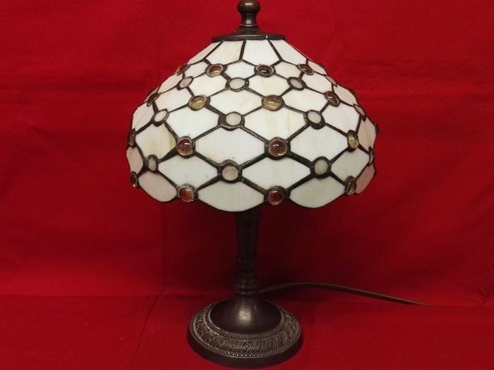 Table lamp with beehive motif and base - late 20th century - Italy