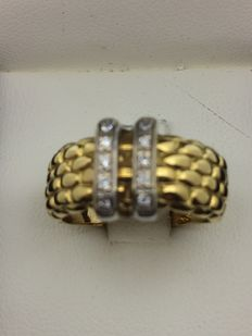 750 gold ring No 55
