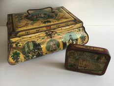 2 pieces of antique Napoleon tins - Wed. J. Bekkers & Zoon Dordrecht - early 1900s