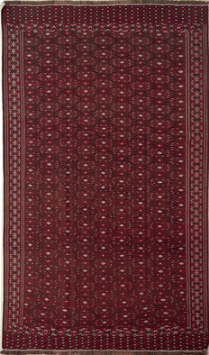 Handwoven/kilim Turkoman/305 x 190/Turkmenistan/50 to 100 years old