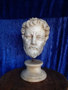 Marble sculpture depicting a philosopher - Italy - late 19th / early 20th century