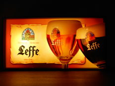 Illuminated advertising sign for Leffe from 1990