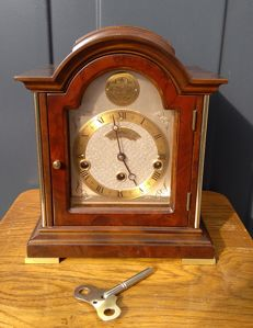 Warmink walnut Westminster table clock - late 20th century