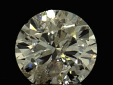 0.40 ct round brilliant cut diamond, Colour H , Clarity I1