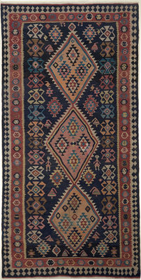 Handwoven / Kilim FARS / 330 x 160 / SOUTH IRAN / 30 to 50 years old